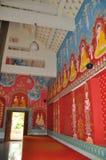 Modern Thais Klassiek tempelmuurschilderij Stock Afbeeldingen