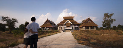 Modern Thais stijlhuis. Royalty-vrije Stock Afbeelding