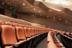 Modern theatre interior Royalty Free Stock Image