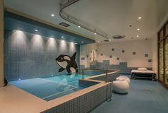 Modern therapy pool room. Modern pool room at Shriners Children Hospital in Montreal, QC stock photography
