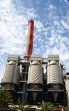 Modern thermal power station in Sant Adria del Besos. Barcelona, Catalunya, Spain stock images