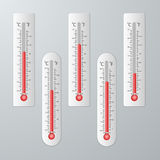 Modern thermometers for design set. Stock Photo