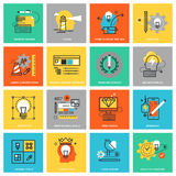 Modern thin line flat design icons for graphic and web design Stock Photography