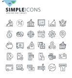 Modern thin line icons of banking. Premium quality outline symbol collection for web and graphic design, mobile app. Mono linear pictograms, infographics and web Stock Photo