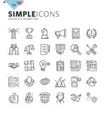 Modern thin line icons of business and marketing. Premium quality outline symbol collection for web design, mobile app, graphic design. Mono linear pictograms Stock Photography