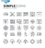 Modern thin line icons of design and development Stock Images