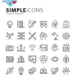 Modern thin line icons of graphic design and creative work Royalty Free Stock Photo