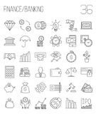 Modern thin line icons set of finance Stock Photography