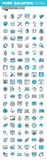 Modern thin line icons set of graphic design, app and website development Stock Images