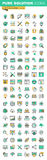 Modern thin line icons set of graphic design, website design and development, sep. Modern thin line icons set of graphic design, logo design, stationary, photo Royalty Free Stock Image