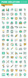Modern thin line icons set of health treatment services, dental treatment and prosthetic Stock Photography