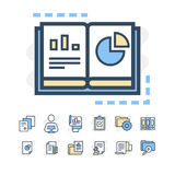 Modern thin line icons set of project planning and business workflow development. Premium quality outline symbol Royalty Free Stock Photography