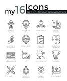 Modern thin line icons set of startup business and launch new product on market Royalty Free Stock Photography
