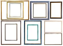 Modern thin plastic picture frames Royalty Free Stock Photography