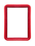 Modern thin red picture frame Stock Image