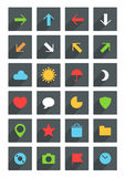 Modern thin web icons Royalty Free Stock Images