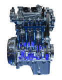 Modern three cylinder car engine Royalty Free Stock Photography