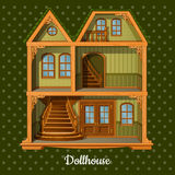 Modern three-storey dolls house Royalty Free Stock Image