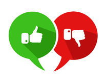 Modern Thumbs Up and Thumbs Down Icons Royalty Free Stock Image