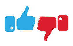 Modern Thumbs Up and Thumbs Down Icons Royalty Free Stock Photo