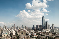 Modern tianjin cityscape stock images