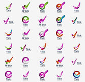 Modern tick abstract wave logo mega set Stock Photography