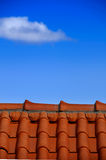Modern tile roof Royalty Free Stock Image