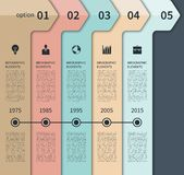 Modern timeline arrow infographics elements. Modern minimal timeline arrow infographics elements. Origami style. Vector illustration. Can be used for workflow Royalty Free Stock Photos