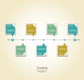 Modern timeline design template Royalty Free Stock Image