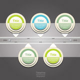 Modern timeline design template. Royalty Free Stock Photo