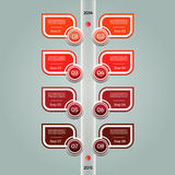 Modern timeline design template. Royalty Free Stock Photography