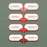 Modern timeline design template. Stock Image