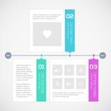 Modern timeline design template Stock Image