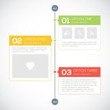 Modern timeline design template Stock Photos