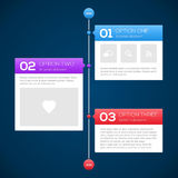 Modern timeline design template Stock Photo