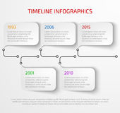 Modern timeline infographic Stock Photography