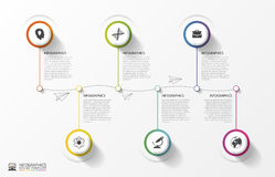 Modern Timeline Infographics. Colorful design template. Vector Royalty Free Stock Photography
