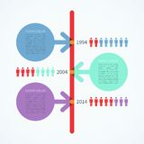 Modern timeline infographics design template Stock Photography