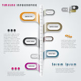 Modern timeline infographics design Royalty Free Stock Photo