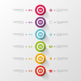 Modern timeline infographics with icons. Vector Stock Photography