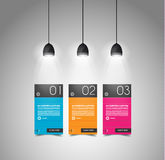 Modern timeline template with flat UI Royalty Free Stock Images