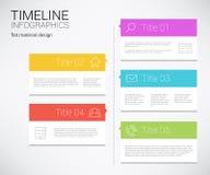 Modern timelinedesignmall royaltyfri illustrationer