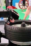 Modern tire machine Royalty Free Stock Photo