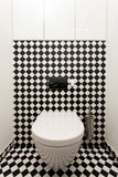 Modern toalett Fotografering för Bildbyråer