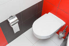 modern toalettwc Royaltyfri Foto