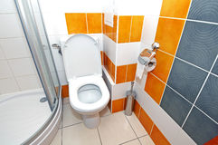 Modern toilet stock photography