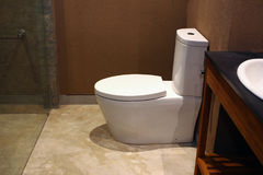Modern toilet in Hotel Royalty Free Stock Image