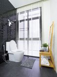 Modern toilet. Interior of modern contemporary bathroom with toilet Royalty Free Stock Image