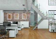 Modern tolkning för inrikesdepartementetinredesign 3d Royaltyfria Foton