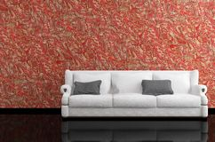 Modern tolkning för sofa 3D Royaltyfria Bilder